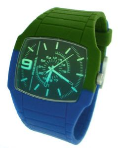 DIESEL DZ1423 Green & Blue Silicon Unisex Watch